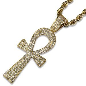 Other - 14k Gold Plated Ankh Pendant Necklace